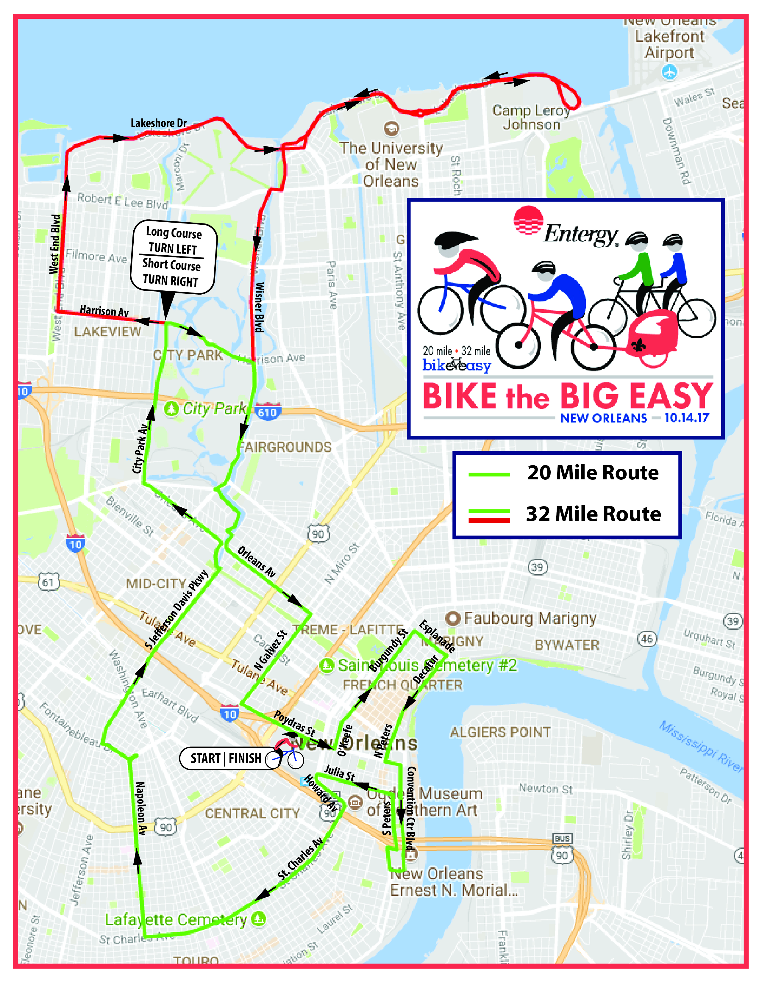 Bike the Big Easy Revised 2017 Course Map