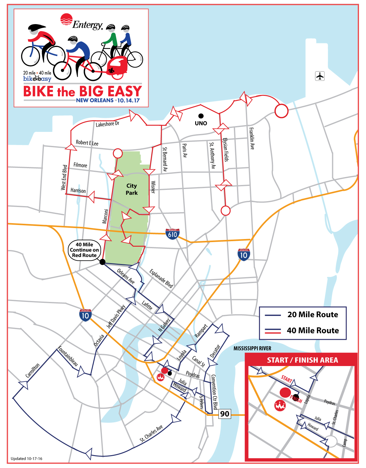 bike the big easy course map